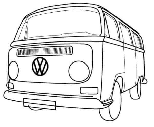 Vw Bus Coloring Pages Printable Free Coloring Sheets Vw Bus Vw Bus T2 Bus Cartoon