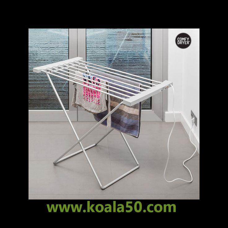 Tendedero Eléctrico Comfy Dryer Max (8 Barras) - 28,44 €   ¡Te presentamos la mejor alternativa a las secadoras convencionales! ¡El tendedero eléctrico Comfy Dryer Max (8 barras)! Con estetendedero de interiorsecarás tu ropa de una forma fácil y...  http://www.koala50.com/ideas-para-el-hogar/tendedero-electrico-comfy-dryer-max-8-barras