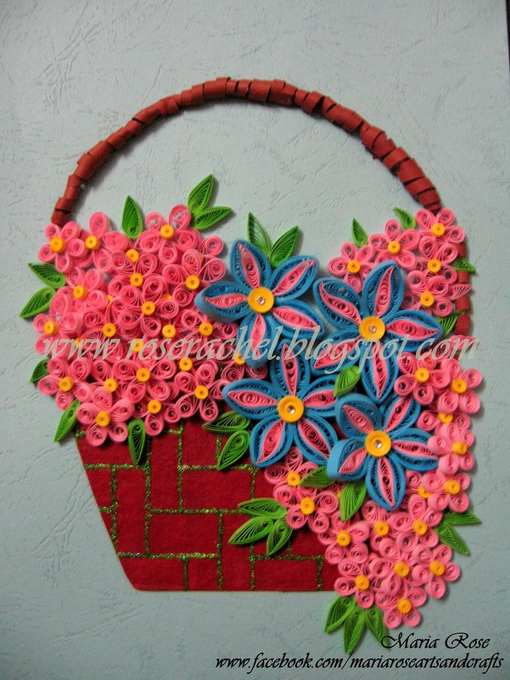 How To Make A Quilling Flower Basket : Best images about quilling vases bowls baskets on