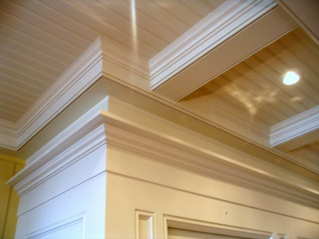 17 best images about ceiling ideas on pinterest wood for Wood trim ceiling ideas