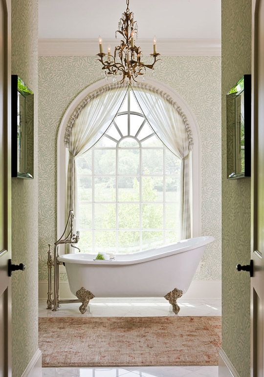 Why is a clawfoot tub so romantic love this stunning for Romantic master bathroom