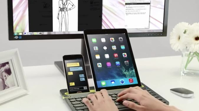 Would be great with @zeleg table! Logitech Bluetooth Keyboard For Multiple Devices | Gadgets | CoolPile.com