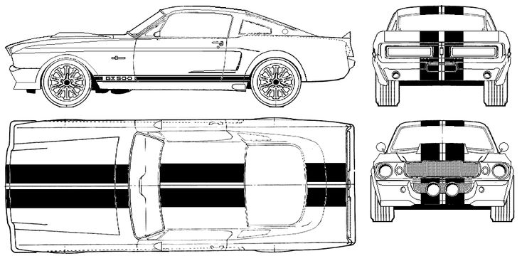 1967 Shelby GT500 Eleanor Coupe blueprint