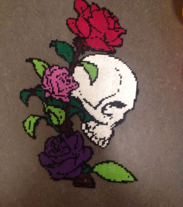 I made this with hama perler. It took 9 hours