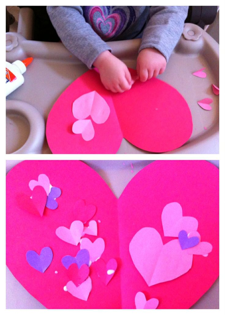 easy valentine craft project/activity for toddlers and preschoolers for Valentine's Day!