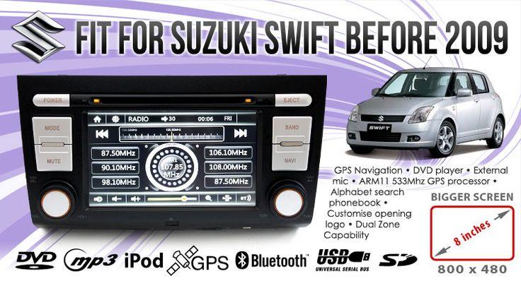 "8"" Suzuki Swift Car DVD Player GPS Navigation Head Unit Stereo Radio IPOD System  Elinz"