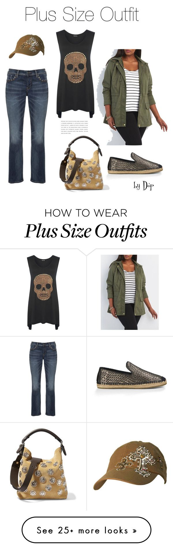 """""""Plus Size Outfit"""" by dop37 on Polyvore featuring Silver Jeans Co., WearAll, Charlotte Russe, UGG Australia, Loewe and plus size clothing"""