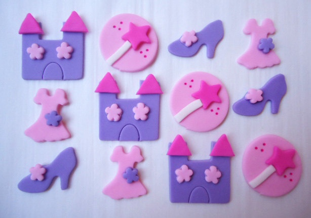 Edible Princess Cupcake Toppers - Fondant Cupcake Toppers - Princess. $15.95, via Etsy.