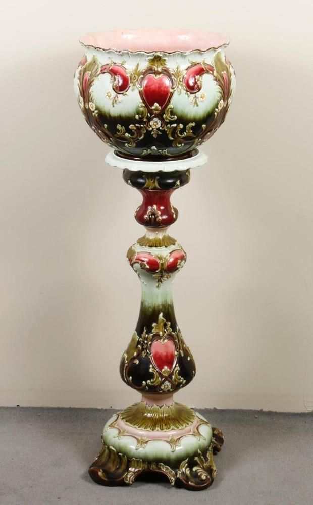 923 Best Images About Jardiniere Pedestal Stand On Pinterest Antiques Porcelain Vase And