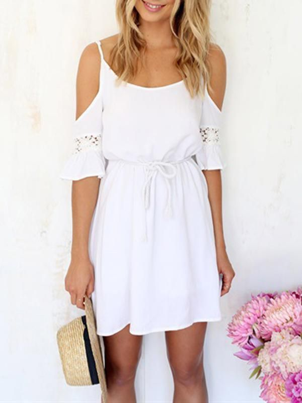 4f47be15bd White Women Strappy Dress Beach Dresses in 2019 | Tia XXXO LEONIE ...