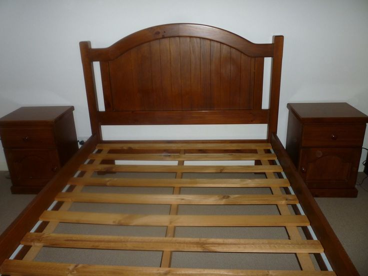 Wooden Double Bed Frame | eBay