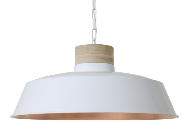 Hanglamp SJOUKJE 61 cm Hout   Wit   Koper