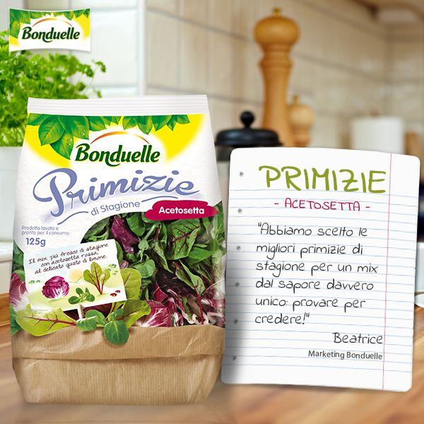 Le migliori #Primizie di stagione per un mix di sapore davvero unico. Parola di #Bonduelle! http://www.bonduelle.it/prodotti/le-primizie/primizie-stagione-acetosetta/