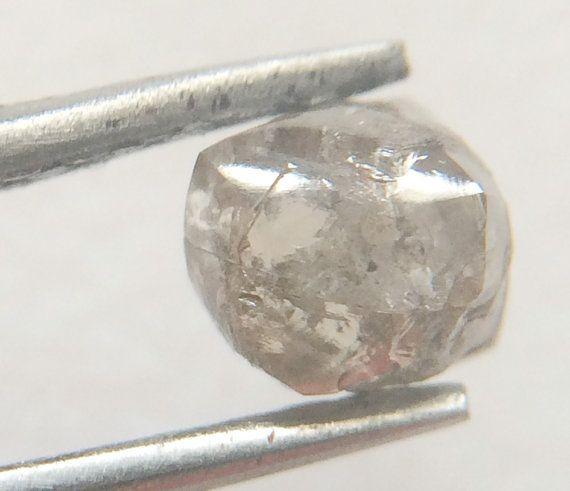 Grey Diamond Crystal Smooth Rough Raw Diamond by gemsforjewels