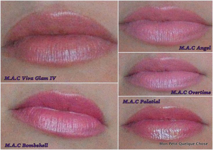 Mes rouges à lèvres MAC : Viva la Glam IV, Bombshell, Angel, Overtime, Palatial !