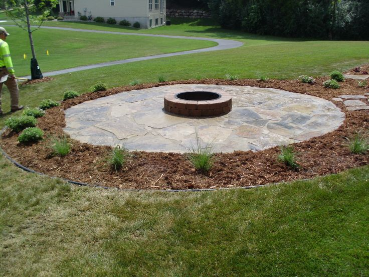 Petrified Seashore Patio And Fire Pit Landscaping Ideas