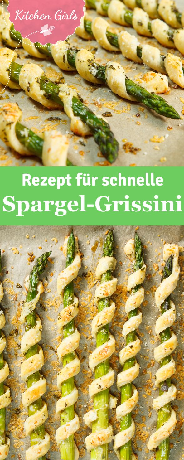 Asparagus grissini as a fast starter for the cooking evening