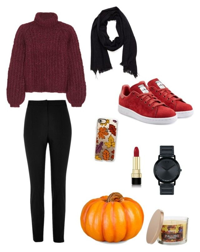 """""""FALL OUTFIT"""" by juliapedersen0 on Polyvore featuring SONOMA Goods for Life, Casetify, Chloé, River Island, Improvements, Dolce&Gabbana, adidas Originals and Movado"""