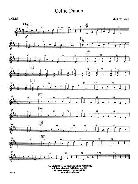 Celtic Dance: 1st Violin                                                       …