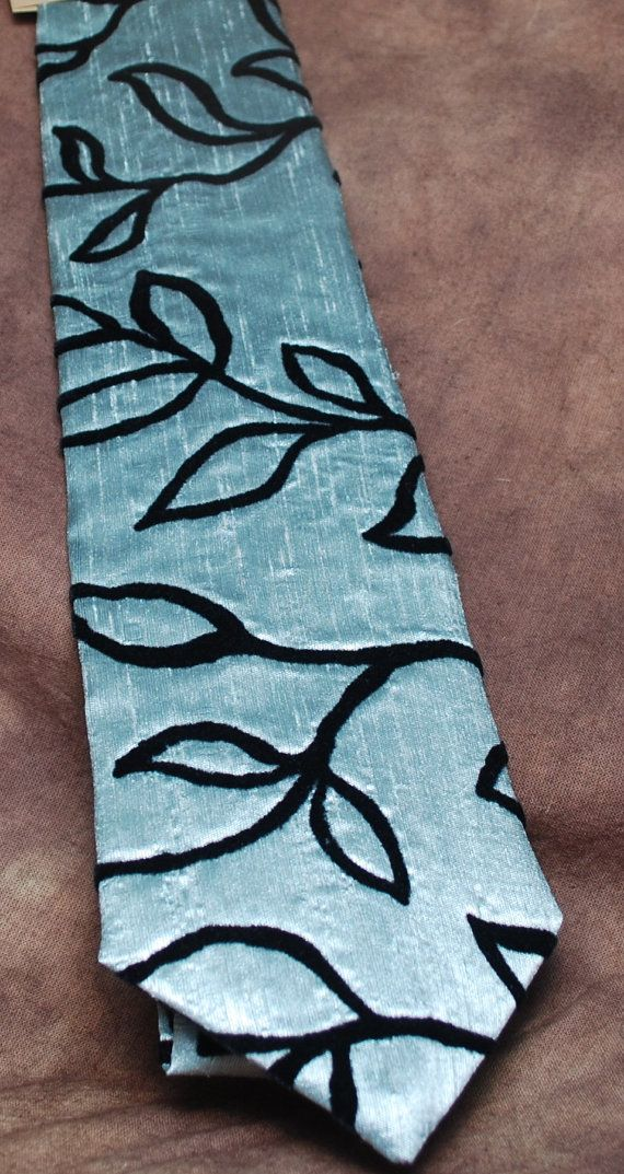 Velvet Vines textured neck tie by AbandonedWarehouse on Etsy