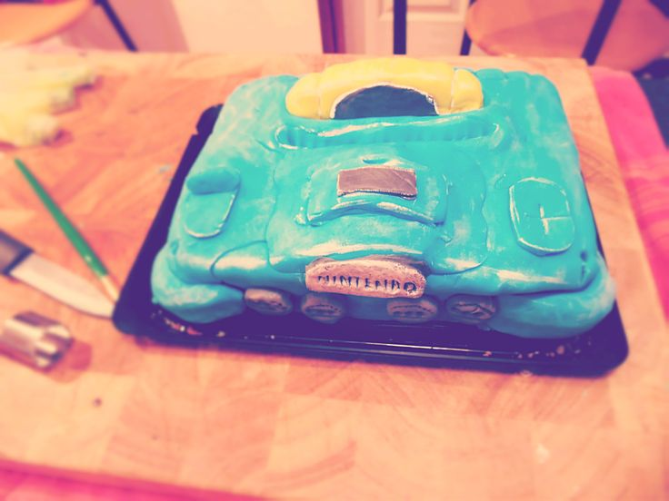 This one's for the gamers - The Nintendo 64 cake. Check out how I made it at brendonthesmilinghchef.com