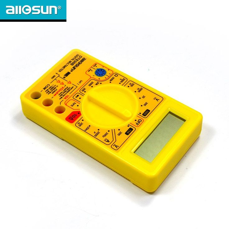 AC/DC Ammeter Voltmeter Ohm Electrical Tester Meter Portable Professional Digital Multimeter not included 9V battery DT830B