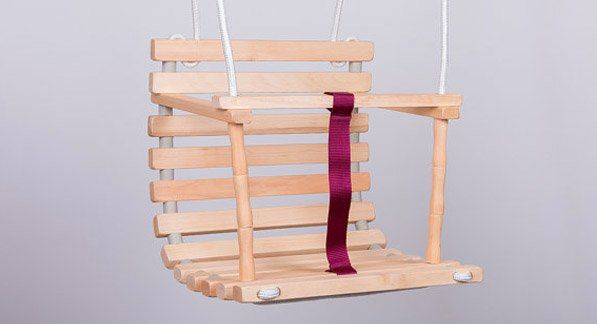Etsy find of the day - wooden baby swing