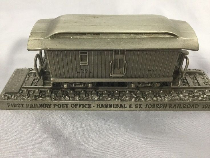 FIRST RAILWAY POST OFFICE HANNIBAL & ST JOSEPH RAIL 1862 TRAIN PEWTER US Post