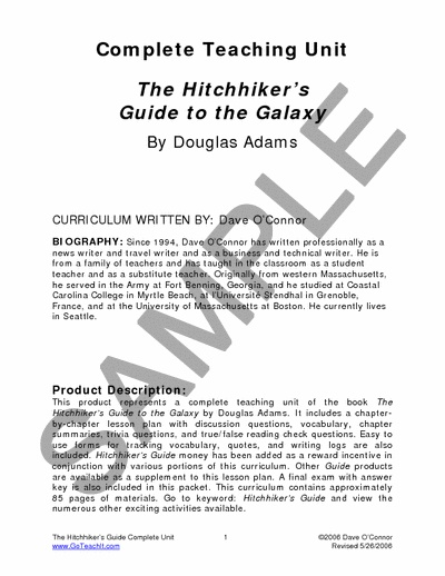 events relating to the hitch hikers guide to the galaxy