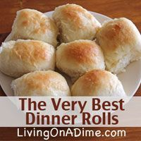 Texas Road house Rolls Just Like Texas Roadhouse Rolls! Looking for an easy and inexpensive homemade dinner rolls that your family will love? You can make these for less than $1.00 per batch. Click here to get this yummy #recipe http://www.livingonadime.com/very-best-dinner-rolls-recipe/ .