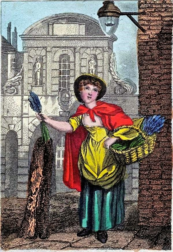 William Marshall Craig's Itinerant Traders of London in their Ordinary Costume...1804. Lavender