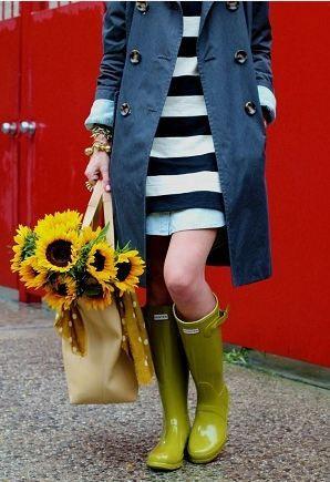 おしゃれな女性たちのレインブーツはこれ♡かわいいレインシューズのコーデ☆スタイル・ファッションの参考に♡