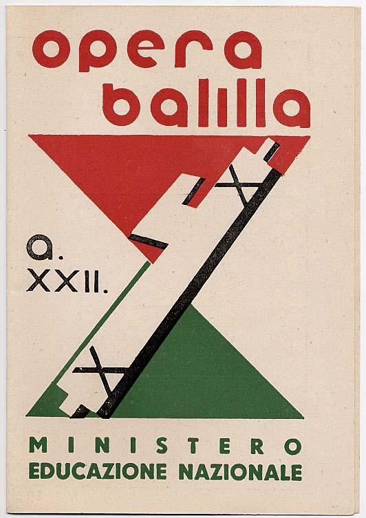 Pagella 1943-44. Frontespizio. Collezione Dino Davanzo