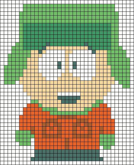 Kyle South Park perler bead pattern