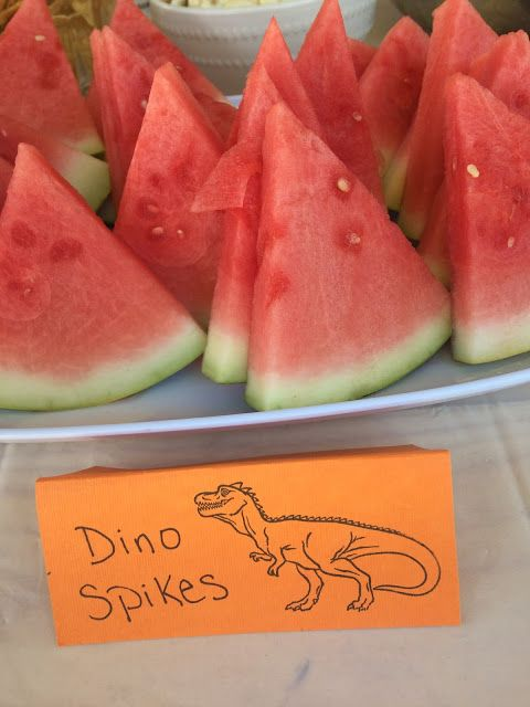 ROAR! Fun Dinosaur Themed Birthday Party Food! Dino spikes, dinosaur birthday party, summer party, 4 year old boys birthday party.