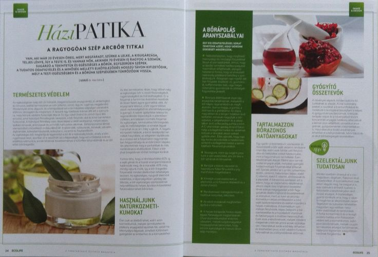 Ecolife magazinban megjelent cikk 2014.december