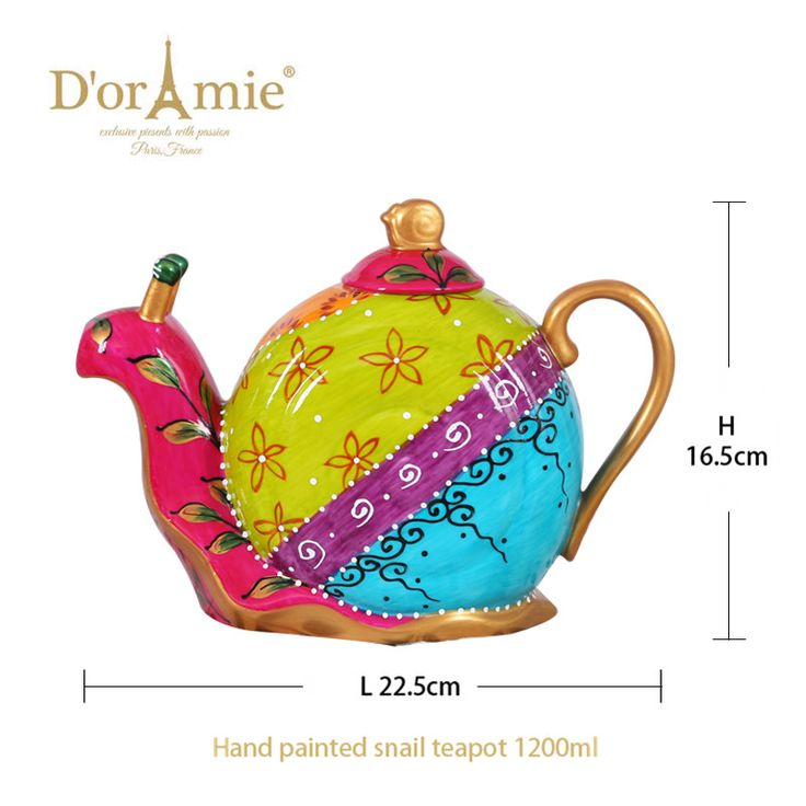 taobao useful porcelain snail teapot as wedding return gift