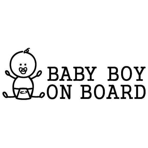 Baby Boy a bordo / Baby Kids / informazioni sulla sicurezza / Driver / finestra di automobile / vinile adesivo decalcomania - non stampato - (#07)