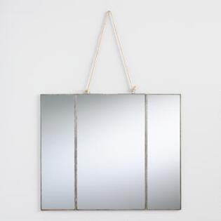 Antique Zinc Reese Tri Fold Mirror