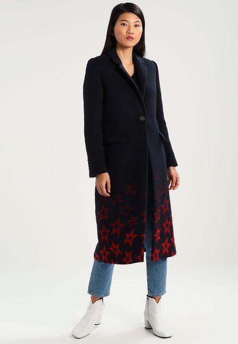 norma coat wollmantelklassischer mantel blue - Mantel Der Ideen Mit Uhr Verziert