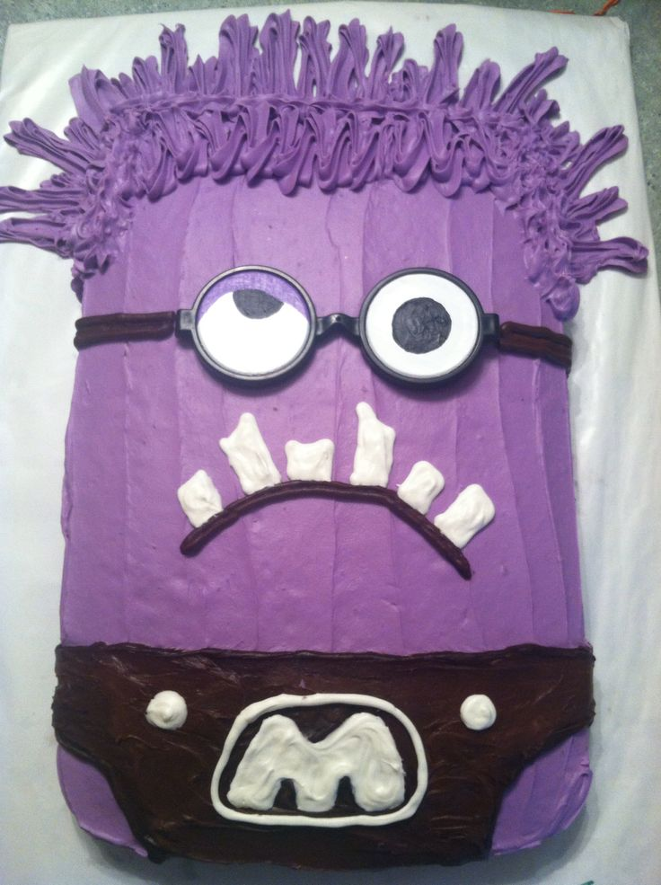 Purple minion cake design. November 2014
