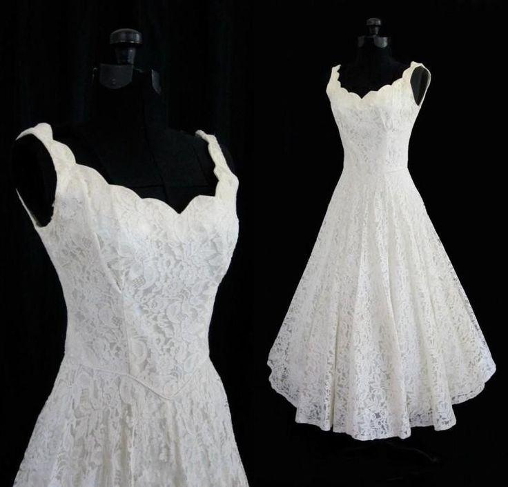 Simple A-line Straps V-neck Knee Length Lace Beach Wedding Dress