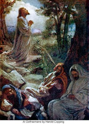 "First Station (part 2): Jesus in the Garden of Gethsemane:  When he returned to his disciples he found them asleep. He said to Peter, ""So you could not keep watch with me for one hour? Watch and pray that you may not undergo the test. The spirit is willing, but the flesh is weak."" (Matthew 26:36-41) Minister: Lord, grant us your strength and wisdom, that we may seek to follow your will in all things"