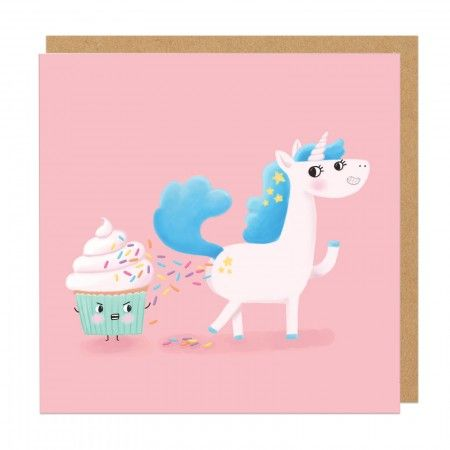 Unicorn Poop Square Greeting Card