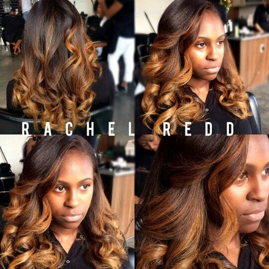 Balayage ombre on natural hair by rachel redd