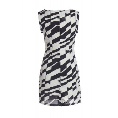 Sleeveless Square Neck Beam Waist Packet Buttock Pattern Formal Ladylike Women's Dress #women, #men, #hats, #watches, #belts, #fashion, #style