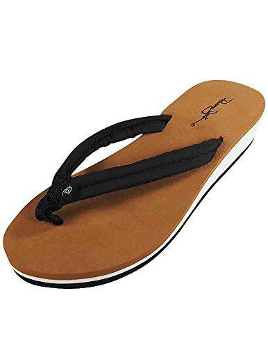 Panama Jack  Ladies Flip Flop Sandal Black 37294Large *** Visit the image link more details.