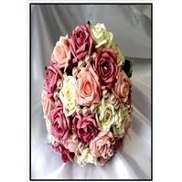 Soft pinks and Moave posy with Pearls and Diamantes