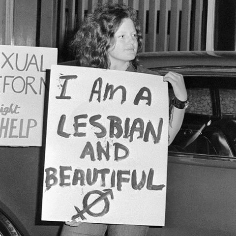 """I AM A LESBIAN AND BEAUTIFUL,"" Melbourne, Australia, 1971. Photo © Phillip Potter. #lgbthistory #HavePrideInHistory"