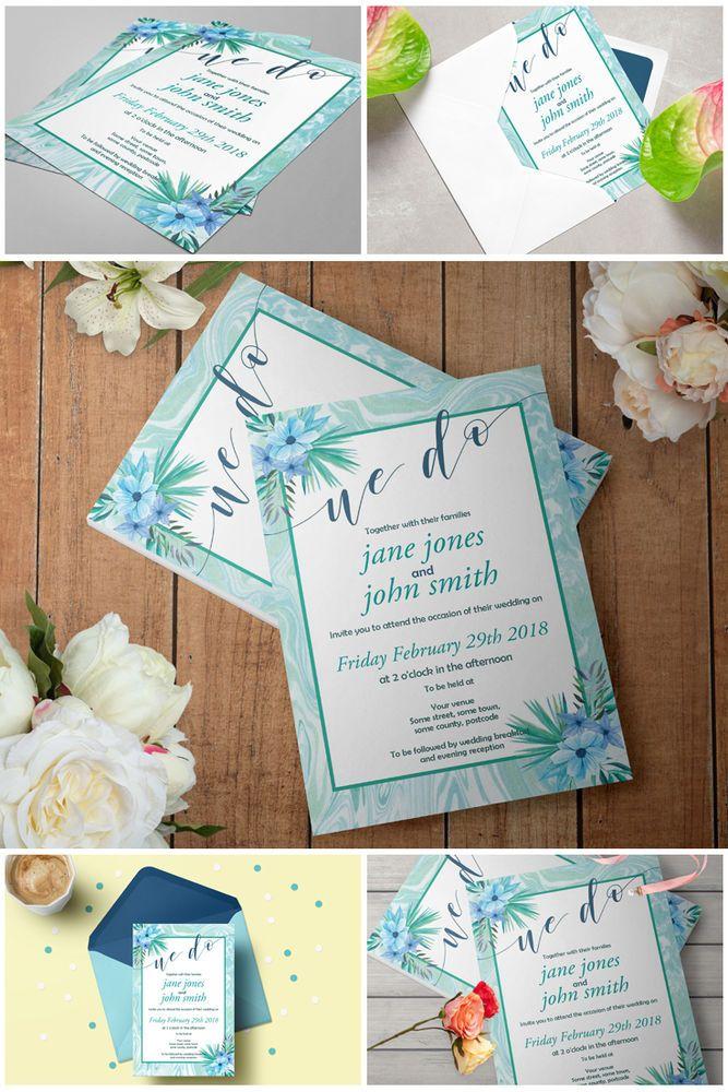online editable wedding invitation templates%0A Printable Mint Marble Wedding Invitation Template  Editable Mint Wedding  Invites